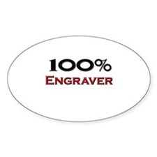 100 Percent Engraver Oval Decal