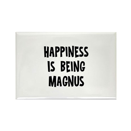 Happiness is being Magnus Rectangle Magnet