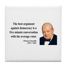 Winston Churchill 2 Tile Coaster