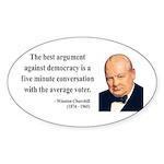 Winston Churchill 2 Oval Sticker