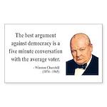 Winston Churchill 2 Rectangle Sticker