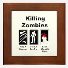 Killing Zombies Framed Tile