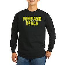 Pompano Beach Faded (Gold) T