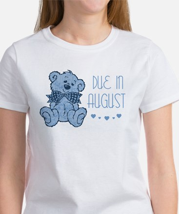 Blue Marbled Teddy Due In August Women's T-Shirt