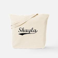 Vintage Shayla (Black) Tote Bag