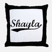 Vintage Shayla (Black) Throw Pillow