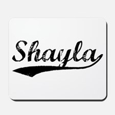 Vintage Shayla (Black) Mousepad