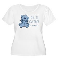 Blue Marbled Teddy Due November T-Shirt