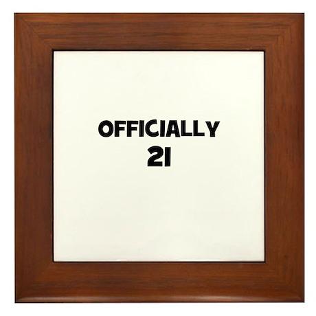 Officially 21 Framed Tile