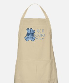 Blue Marbled Teddy Due In December BBQ Apron