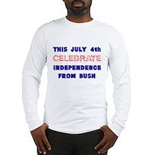 anti-bush july 4th Long Sleeve T-Shirt