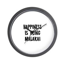 Happiness is being Malakai Wall Clock