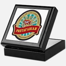 Cute Pastafarian freethinker anti religion Keepsake Box