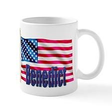 Benedict Patriotic USA Flag Gift Mug