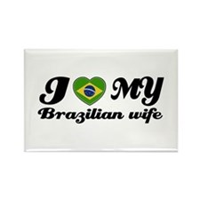I love my Brazilian Wife Rectangle Magnet (10 pack