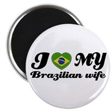 "I love my Brazilian Wife 2.25"" Magnet (10 pack)"