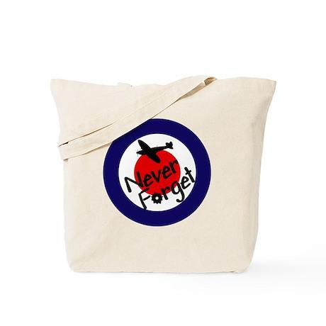 RAF Spitfire-Never forget Tote Bag