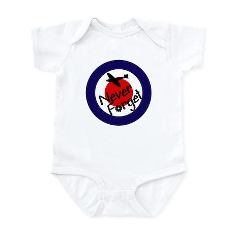 RAF Spitfire-Never forget Infant Bodysuit