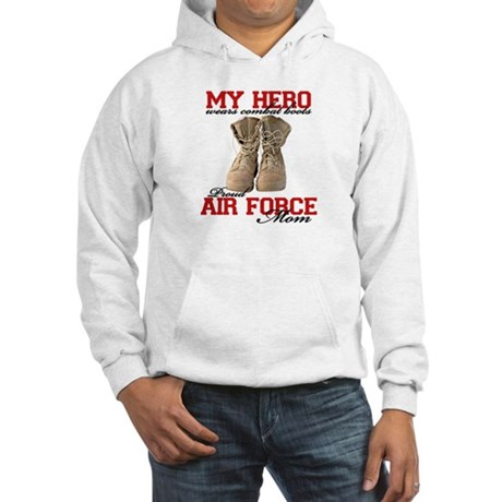Combat boots: USAF Mom Hooded Sweatshirt