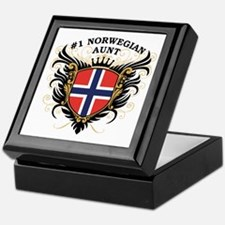 Number One Norwegian Aunt Keepsake Box