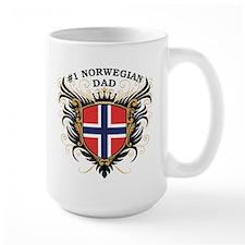 Number One Norwegian Dad Mug