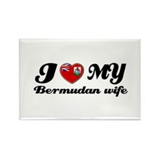 I love my Bermudan Wife Rectangle Magnet (10 pack)