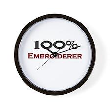 100 Percent Embroiderer Wall Clock