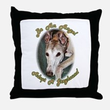 BE AN ANGEL - ADOPT A GREYHOUND THROW PILLOW