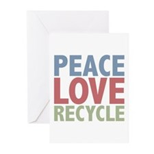 Peace Love Recycle Earth Day Greeting Cards (Pk of