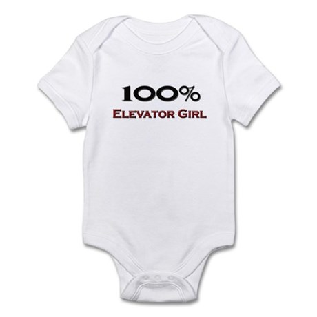 100 Percent Elevator Girl Infant Bodysuit