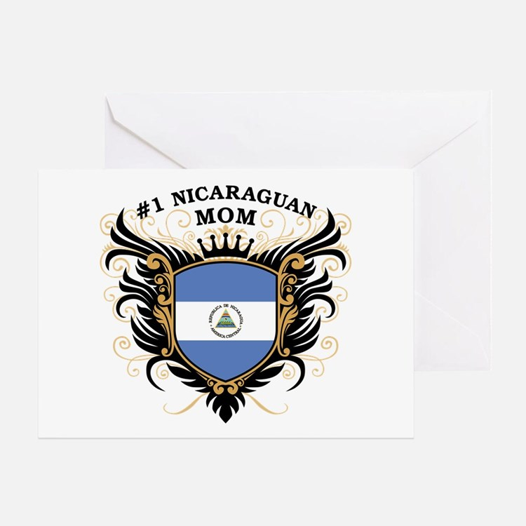 Number One Nicaraguan Mom Greeting Card