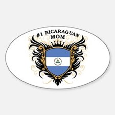 Number One Nicaraguan Mom Oval Decal