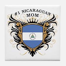 Number One Nicaraguan Mom Tile Coaster