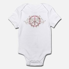 Peace sign with swirls Infant Bodysuit