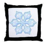 Flurry Snowflake XIX Throw Pillow
