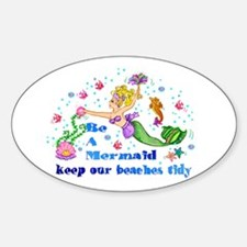 Be A Mermaid Oval Decal