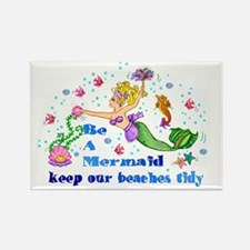 Be A Mermaid Rectangle Magnet