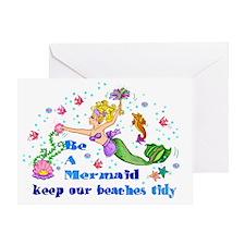 Be A Mermaid Greeting Card