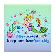 Be A Mermaid Tile Coaster