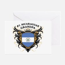 Number One Nicaraguan Grandpa Greeting Card