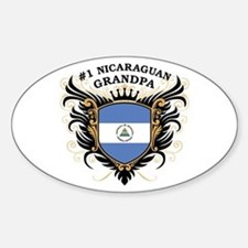 Number One Nicaraguan Grandpa Oval Decal