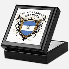 Number One Nicaraguan Grandpa Keepsake Box
