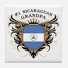 Number One Nicaraguan Grandpa Tile Coaster