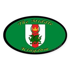 Middle Kingdom Oval Sticker