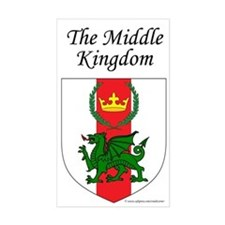 Middle Kingdom Rectangle Sticker