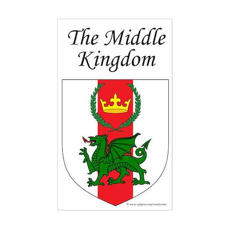 Middle Kingdom Rectangle Sticker