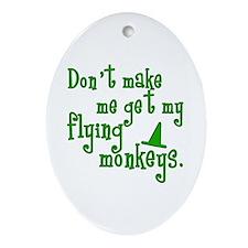 Flying Monkeys Oval Ornament