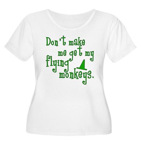 Flying Monkeys Women's Plus Size Scoop Neck T-Shir