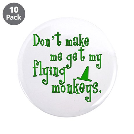"Flying Monkeys 3.5"" Button (10 pack)"