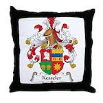 Kesseler Family Crest Throw Pillow